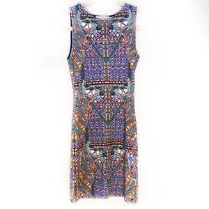 MARA HOFFMAN Mini Dress Camels White Print Size XS